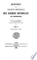 illustration Mémoires de la Société nationale des sciences naturelles et mathématiques de Cherbourg