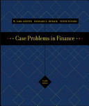 Case Problems in Finance