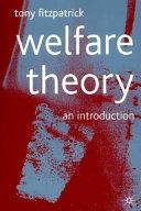 Welfare Theory