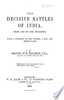 The Decisive Battles of India  From 1746 to 1819 Inclusive