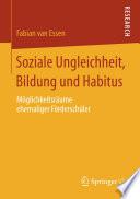 Soziale Ungleichheit, Bildung und Habitus
