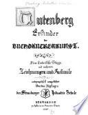 Gutenberg, erfinder der buchdruckerkunst