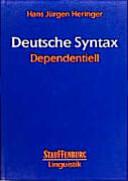 Deutsche Syntax dependentiell