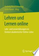 Lehren und Lernen online