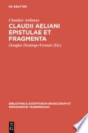 Claudii Aeliani Epistulae et fragmenta