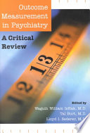 Outcome Measurement in Psychiatry