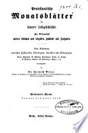 Protestantische Monatsbl Tter F R Innere Zeitgeschichte