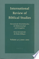 International Review of Biblical Studies