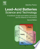 Lead Acid Batteries  Science and Technology