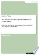 Der Sozialisationsbegriff der Gegenwart: P.F. Bourdieu