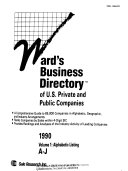 Ward s Business Directory of U  S  Private and Public Companies