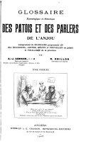 Glossaire étymologique et historique des patois et des parlers de l'Anjou