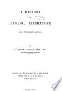 A History Of English Literature For Secondary Schools