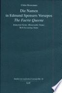 Die Namen in Edmund Spensers Versepos The faerie queene