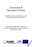 Conversion and Document Formats
