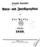 Königlich bayerisches Amts- und Intelligenzblatt für die Pfalz