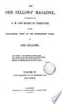Odd Fellows  Magazine of the Manchester Unity of the Independent Order of Odd Fellows