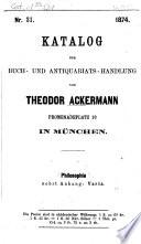Katalog von Theodor Ackermann