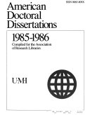 American Doctoral Dissertations
