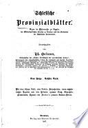 Schlesische Provinzialblätter