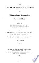 The Retrospective Review, and Historical and Antiquarian Magazine ...