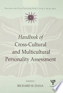 Handbook of Cross Cultural and Multicultural Personality Assessment