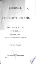 Journal of the Legislative Council