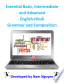 Essential Basic Intermediate And Advanced Grammar And Composition In English Hindi