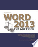 Microsoft Word 2013 for Law Firms