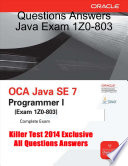 Questions Answers Java Exam 1z0 803