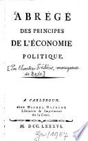 Abrégé des Principes de l'Économie politique