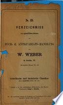 Verzeichnis antiquarischer Bücher