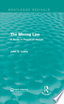 The Mining Law