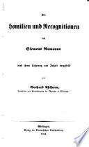 Die Homilien und Recognitionen des Clemens Romanus