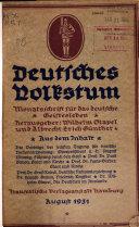 Monatsschrift f  r das deutsche Geistesleben
