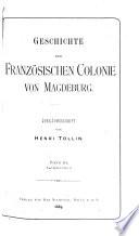 Geschichte der französischen colonie von Magdeburg