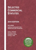 Selected Commercial Statutes, 2018 Edition