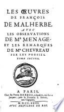 Les   uvres de Fran  ois de Malherbe