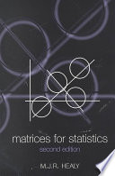 Matrices for Statistics
