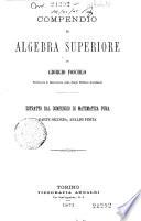 2   Compendio di algebra superiore