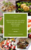 illustration 50 recettes de Salades fraicheurs pour le printemps et l'été