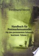 Handbuch f?r Postmarkensammler