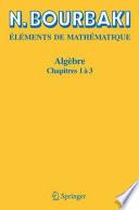 illustration du livre Algèbre