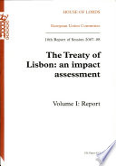 The Treaty of Lisbon  Report