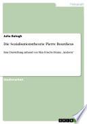 Die Sozialisationstheorie Pierre Bourdieus