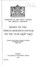 Report Of The Medical Research Council