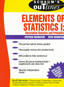 Schaum s Outline of Elements of Statistics I  Descriptive Statistics and Probability