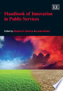 Handbook Of Innovation In Public Services