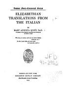 elizabethan translations from the italian