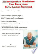 Homeopathic Medicine for Everyone, Dr. Kuhns System